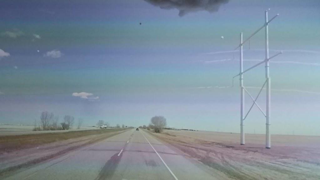 Power lines dissapearing. #ridingthroughwalls #googlestreetview #xcanadabikeride #Saskatchewan #glitch