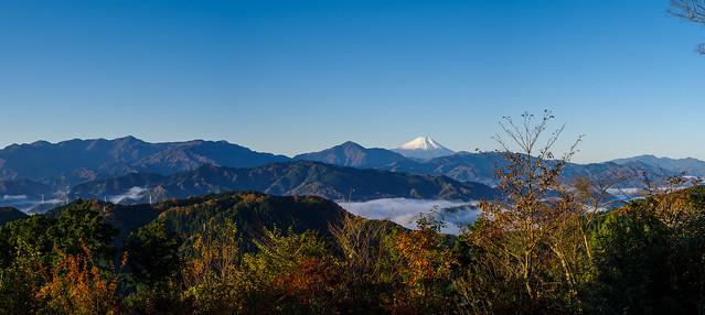 高尾山山頂展望台からの眺め