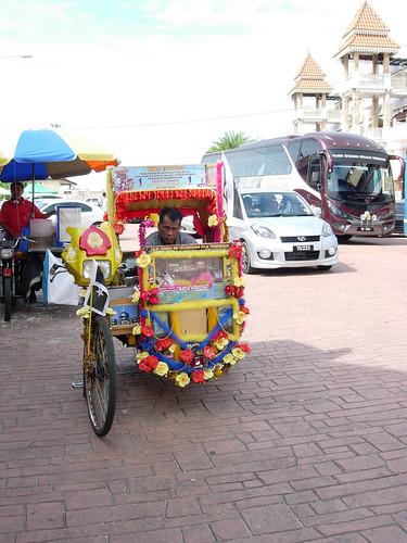 Beca in front of Pasar Payang, Terengganu