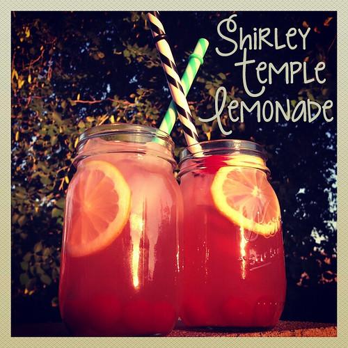 Shirley Temple Lemonade Recipe Mason Jars by Heather Says