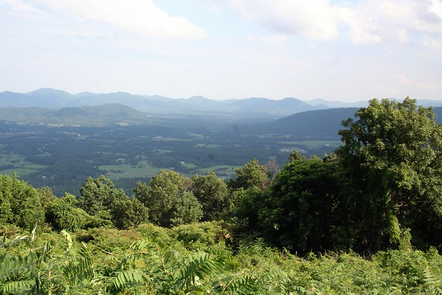 View of Shenandoah Valley from Blue Ridge Parkway