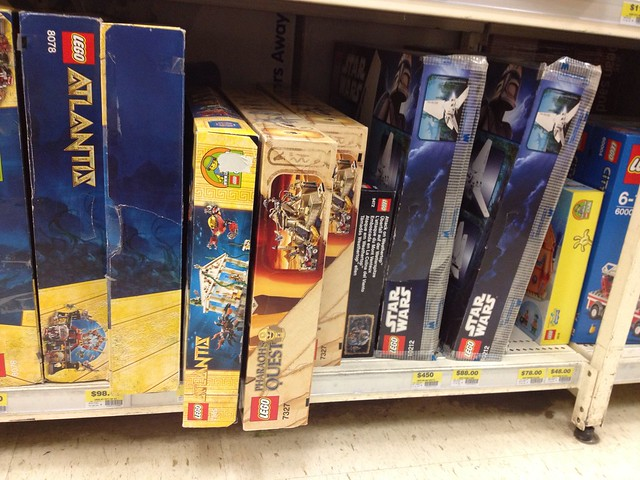 Older Lego sets at an out of the way Big W