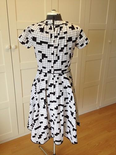 crossword dress #1 back