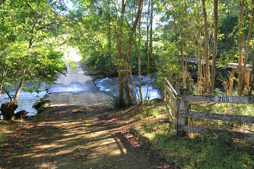 Footbridge and Ford Over The Lansdowne River, Coxcomb Rd, Upper Lansdowne, Manning Valley, NSW