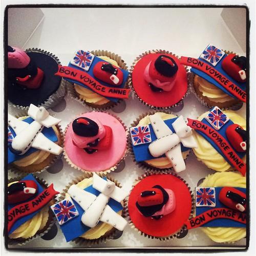 Bon Voyage Cupcakes