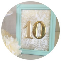 Teal Table Number