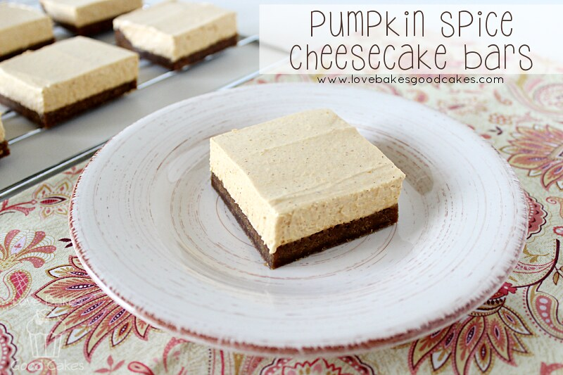 Pumpkin Spice Cheesecake Bars 1