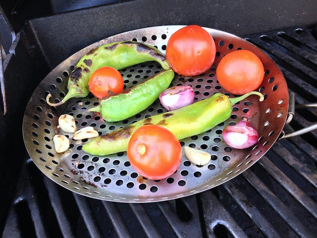 hatch chile salsa veggies
