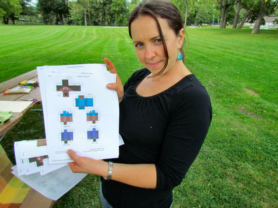 Minecraft Party Paper Cutouts