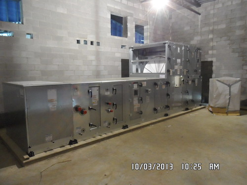 Air handler unit in area A