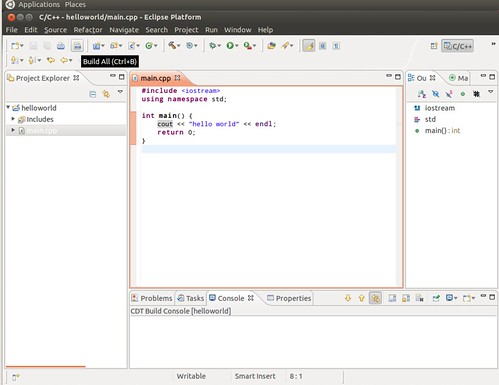Ubuntu 12.04 Eclipse New C++ Project 7