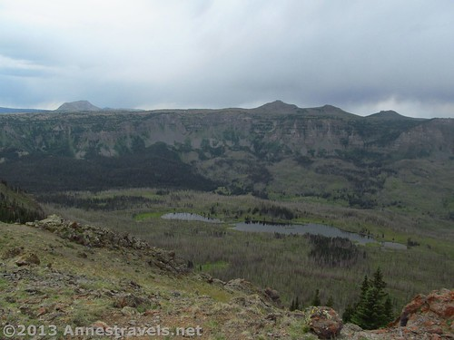 The Fish Creek Drainage as seen from near Flander Peak, Flat Tops Wilderness Area, Routt National Forest, Colorado