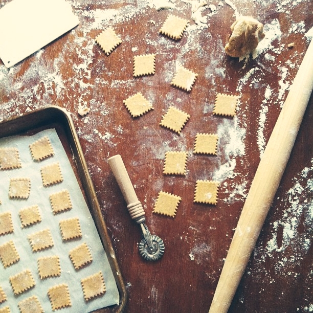 Baking crackers today!