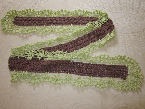 chocolate and lime scarf