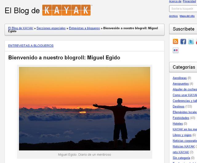 Entrevista a Diario de un Mentiroso en Kayak