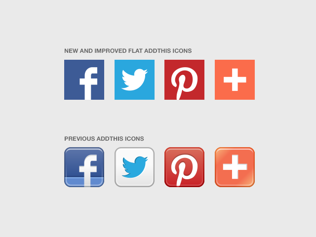 Addthis Social Icons Go Flat Addthis