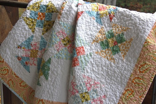 Double Wrench Baby Quilt - e