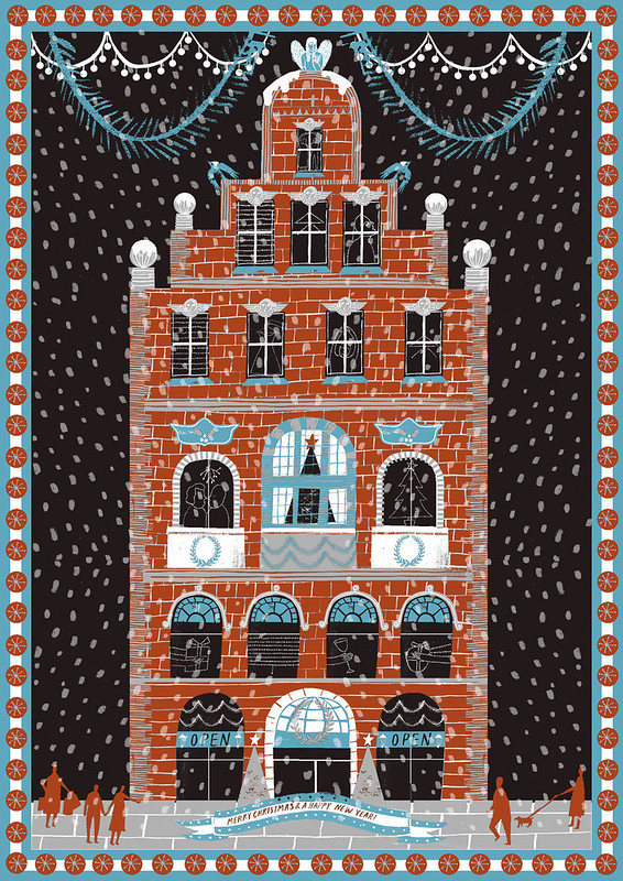 Christmas Building Christmas card by Alice Pattullo