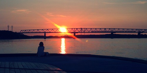 bridge sunset water beautiful denmark colours daughter enjoy peacefull stressless middelfart lovelyview the4elements