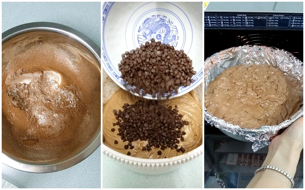 三星智能烤箱:可可巧克力蛋糕