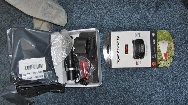 IMG_4711 princeton tec Fred LED headlamp and zoomable Cree flashlight