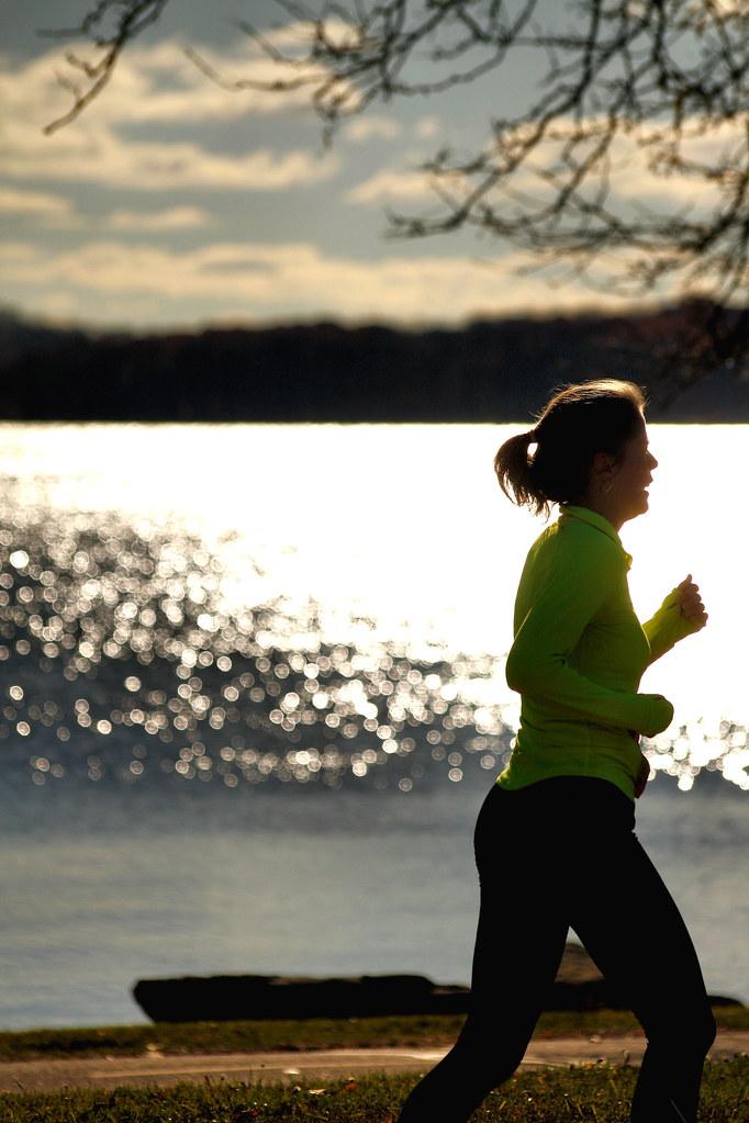 Running Past Lake Monona