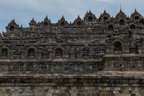 Walking Borobudur.