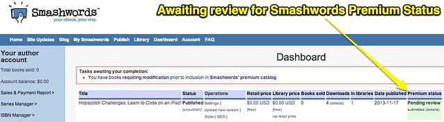 Awaiting review for Smashwords Premium Status