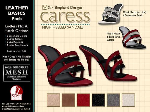 Caress Stilettos - Basic Leathers