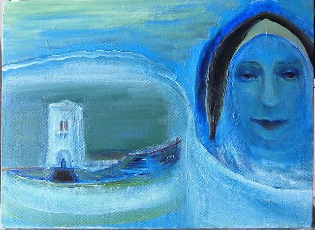 Retrato con el Torre. Портрет с Башней