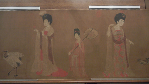 DSCN6227 _ Court Ladies Adorning Their Hair with Flowers (detail 2), Fang ZHOU, 46x180cm, Liaoning Museum, Shenyang, China
