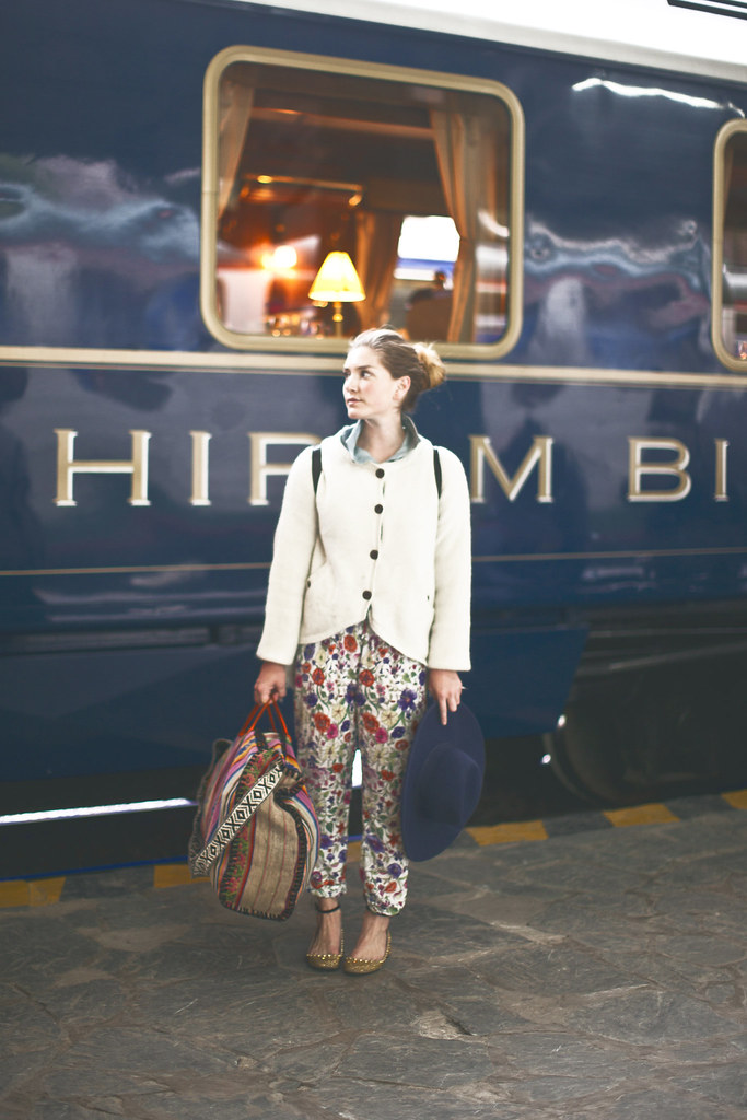 Hiram Bingham Orient Express luxury train service, Machu Picchu to Cusco, Peru