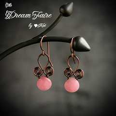 Pink Bubble Gum Drop Earrings