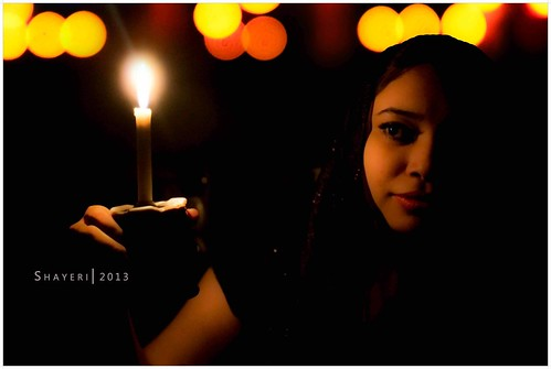 The Girl with Candle