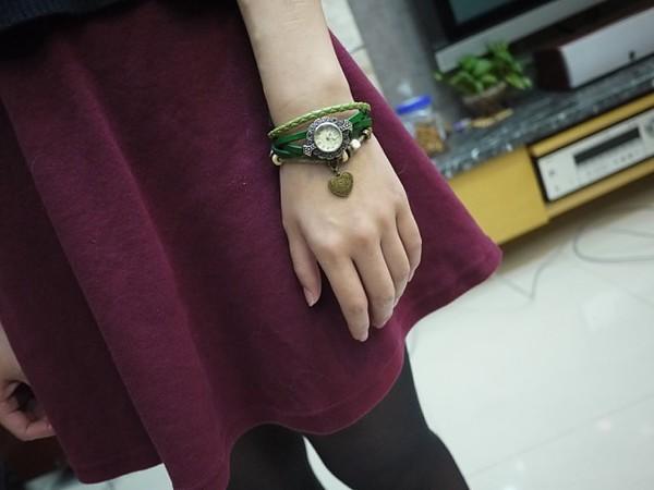 淘寶購物|似水光陰♥.森林系復古手錶;想再購入藍色!