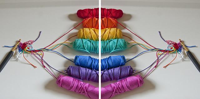 Rainbow Spiral Ball