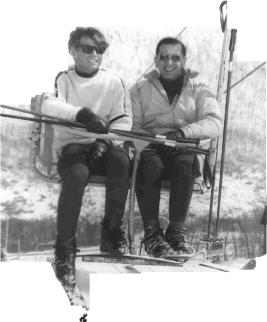 Robert F. Kennedy and Founder Fred Sarkis, 1967 (Bristol Mountain)