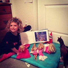 Noel, the Hale family elf, got a couple other girls together last night for a Christmas Book reading.