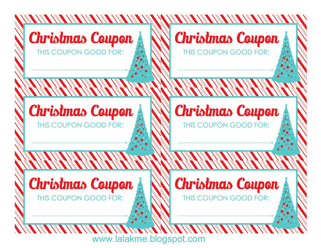 Christmas Coupons Blank