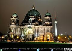 Berliner Dom by night