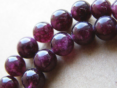 Garnet black and purple. Ball 0.8 cm