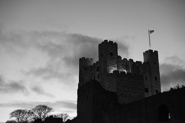 Rochester Castle B&W