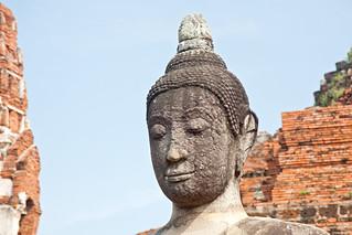Image of Wat Phra Mahathat near Phra Nakhon Si Ayutthaya. canon thailand asia southeastasia december buddha christmasday ayutthaya 泰国 watphramahathat ราชอาณาจักรไทย ประเทศไทย ayudhya 2013 พระนครศรีอยุธยา canonefs1755mmf28isusm canon450d phranakhonsiayutthaya