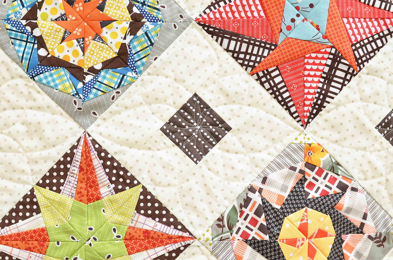 Lucky Stars BOM quilting