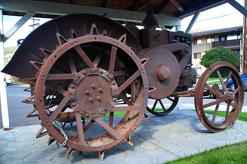 Old Tractor from Church Ranch at Big Creek, Cariboo, British Columbia, Canada