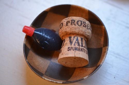 tamari fish + prosecco cork