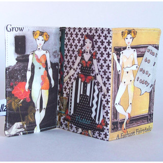 Paper Doll Fabric Fashion Mini Book