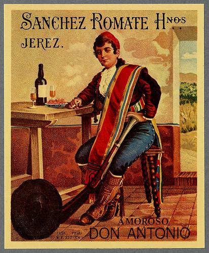 020- Etiquetas de bebidas. Figuras y retratos de hombres -1890 - 1920 - Biblioteca Digital Hispánica