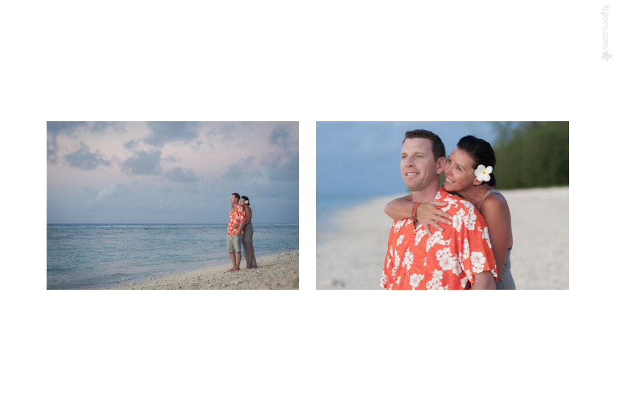 Hugs. couple photography Cook Islands, vacation photo shoot