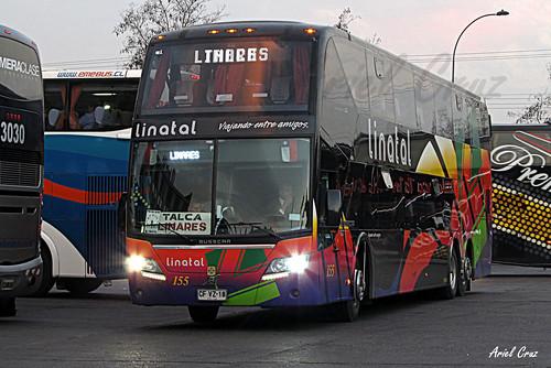 Linatal en Terminal Sur | Busscar Panorâmico DD / CFVZ18